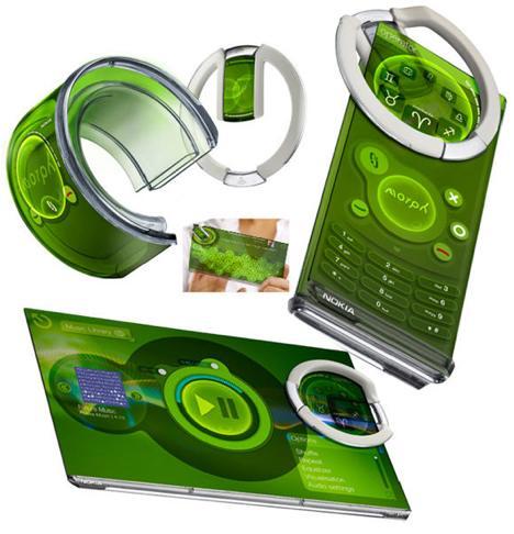 """Nokia morp adalah terobosan baru dengan mengusung konsep """"Design and The Elastic Mind"""""""